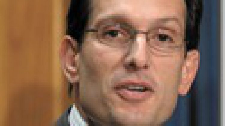 "Reps Eric Cantor (R-VA) and Rep. Howard P. ""Buck"" McKeon (R-CA) give a news conference in the House Raido and TV Gallery on ""Employee Free Choice Act"" and why they will vote against it in Washington, D.C. on Wed., Feb. 28, 2007.