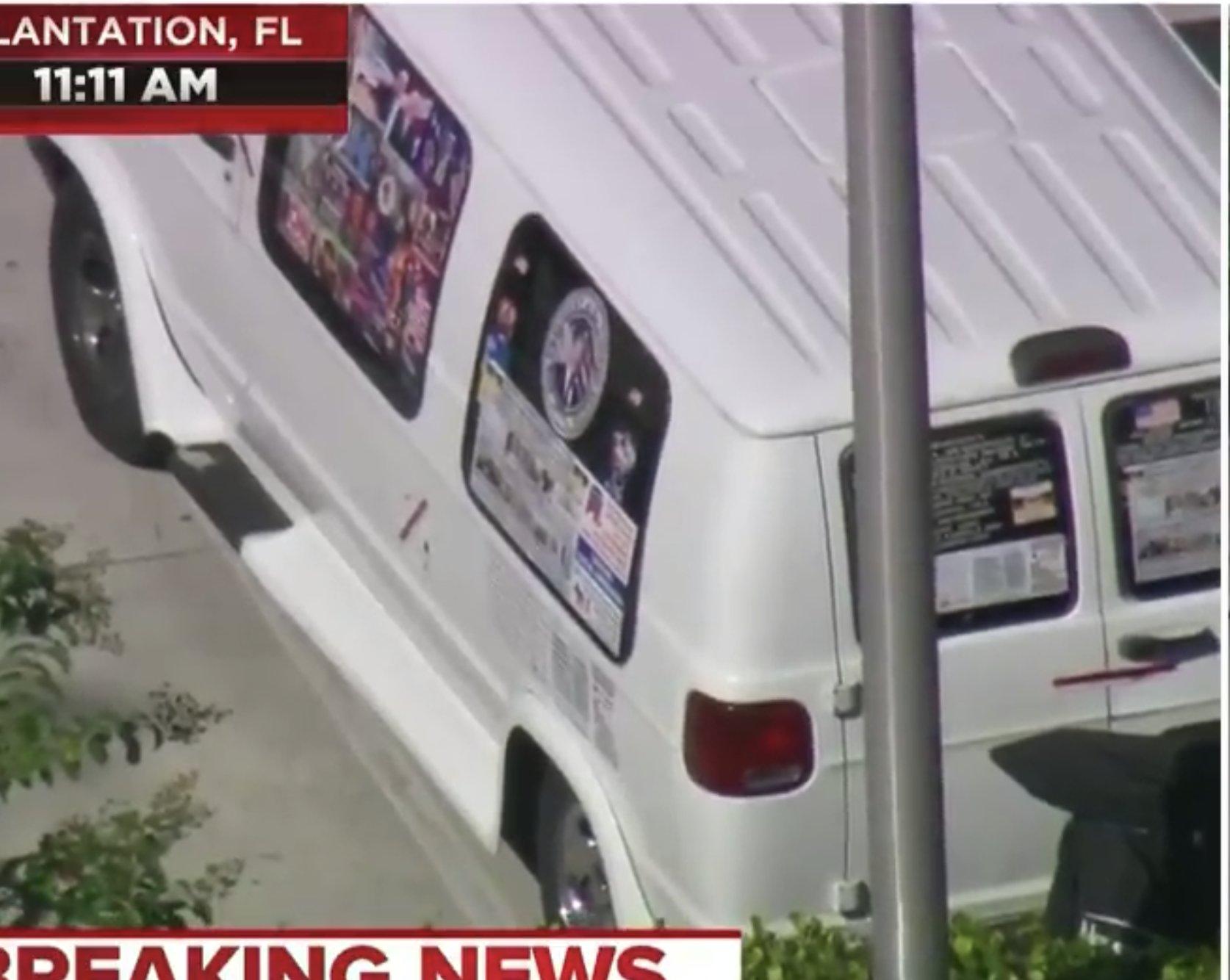 Bomb suspect's van